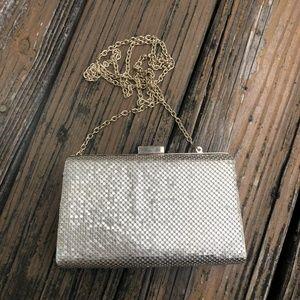 Vtg Gold Mesh Purse Handbag Bag Disco La Regale